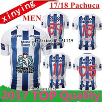 Wholesale Manga Men - Free shipping 2017 2018 Manga Liga LIGA MX Club Pachuca Home White Blue Soccer Jersey Pachuca 17 18 Maillot De Foot football Shirts