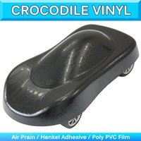 Crocodile Skin Car Sticker Wrap Vinyl Decal Sheet Текстура для животных Автоматическая фольга для обертывания пленки Air Bubble Free 1.52x30m 5x95Ft
