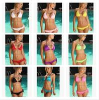 Wholesale Cheap Wholesale Bathing Suits - 2016 New bikini Sexy Lady Brazilian Bikini New women swimsuits Fashion Women Swimsuit bathing suit Bandage bikini CHEAP bikini D155 500pcs