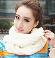 Wholesale Mens Cowl - Wholesale-Brief Style Mens Women Unisex Winter Scarf Infinity Circle Ring Acrylic White Knit Cowl Neck Snood Scarves Shawl Wrap