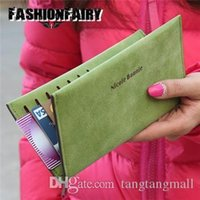 Wholesale Passport Wallet Women - Fashion Slim Women's Purses Organizer Western Matte PU Leather Coin Passport Holder Travel Clutch Bags Ladies Wallets For Women A5