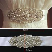 Wholesale wedding dress sashes wholesale - Newest 2016 Wedding Sash Gorgeous Beads Crystal Rhinestone Wedding Dress Sash Wedding Dress Belt Wedding Accessories