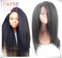 7A Cheap Italian Yaki Glueless Full Lace Perucas de cabelo humano para mulheres negras Virgin Virgin Remy Kinky Straight Lace Front Wigs