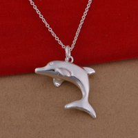 Wholesale 925 Sterling Silver Pendant Large - 925 sterling silver necklace Korean popular dolphin necklace jewelry wholesale trade large spot