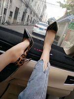 weibliche geschäftskleider großhandel-Sexy Frauen Stiletto High Heels Spring Dress Schuhe Leopard Frauen Hochzeit Schuhe Lackleder Female Business Schuhe Damen Pumps Big Size 44