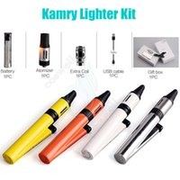 Wholesale Vapor Lighter - Authentic Kamry Lighter Starter Kit 1300mAh battery 2ml 0.1~3.3ohm atomizer Lighter Style Vapor Mods kits e cigarettes Portabl Vape pen DHL