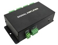 Wholesale Magic Amplifier - New SPI Amplifier 8 Channel Pixel SPI Dream Color Signal Amplifier Controller DC12V Magic Color Led Amplifier for LED Free Ship