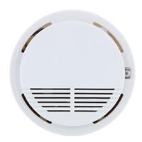 perakende güvenlik sistemleri toptan satış-Kablosuz Yangın Duman dedektörü sensörü alarm Ev Güvenlik Sistemi Beyaz perakende paketinde dropshipping 200 adet / grup