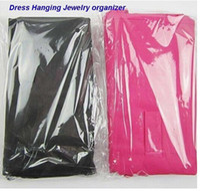 Wholesale Dress Hanging Jewelry Organizer - Wholesale-Black Pink Dress Hanging Jewelry organizer Jewelry Packaging Display Dress Clothes Design Hooks bag hn044