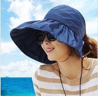 Wholesale Fold Sun Visors - Wholesale-2015 New Ms. Visor Hat Summer Waterproof Ultralight Tidal Large Along The Beach Sunscreen UV Sun Hat Summer Hat Folding