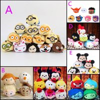 Wholesale Plush Mobile Cleaner - TSUM TSUM Toys Anime Frozen Micky Minnie Big hero 6 plush doll mobile screen cleaner plush toys for mobile phone ipad 201508HX