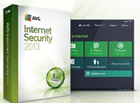 Wholesale AVG Internet Security full featured anti virus software in English and three card pc
