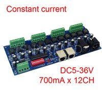 constante 700ma mayor-12CH DMX actual dimmer, 12 canales DMX 512 dimmer, en coche, LED DMX512 decodificador, RJ45 XRL 3P