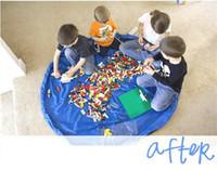 Wholesale Large Plastic Folding Storage Boxes - Portable Kids Children Infant Baby Play Mat 150cm Large Storage Bags Toys Organizer Blanket Rug Boxes easy 50pcs DHL Free Shipping