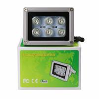 açık cctv kamera dizisi toptan satış-Yardımcı Kızılötesi Işık 6 Güçlü LED Gece Görüş Aralığı Güvenlik CCTV IP Kamera için 50 M Alüminyum Aydınlatıcı lamba