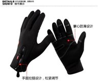 Wholesale windstopper gloves warm resale online - Black Windstopper Soft amp Warm Simulated Leather Windproof Outdoor sports Gloves S M L XL three size