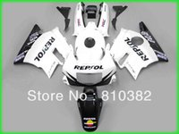 weißer repsol-verkleidungssatz großhandel-Custom-Panel-Kit für CBR600F2 CBR 600 CBR 600 F2 1991 1992 1993 1994 91 92 993 94 REPSOL weiße, schwarze Motorradverkleidung