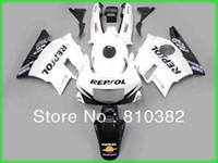 Wholesale Cbr Custom Fairings - Custom panel kit for CBR600F2 CBR 600 CBR 600 F2 1991 1992 1993 1994 91 92 993 94 REPSOL white blk motorcycle fairing