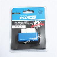 obd2 satılık toptan satış-Sıcak satış Fiş ve Sürücü EcoOBD2 Ekonomi Chip Tuning Kutusu EcoOBD2 Dizel Arabalar için 15% Yakıt Tasarrufu ECO OBD2 ücretsiz kargo