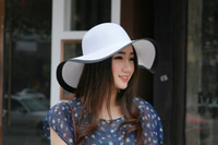 Wholesale Small Brim Hats Men - Wholesale-Hot small fragrant white with a large brimmed hat folding stripes