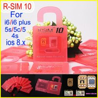 Wholesale Iphone 4s Unlocking Sim - Newest Original R-SIM 10 rsim 10 R SIM 10 Thin Film sim Card Unlock for iphone 6 6plus 5S 5C 5 4S iOS6. X-8.X Support Sprint AT&T T-mobile