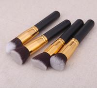 Wholesale professional liquid foundation set resale online - by dhl or ems pair Professional Synthetic Makeup Brush Set Make Up Foundation Powder blush Liquid Brush Kabuki