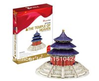 Wholesale Temple Heaven Puzzle - Wholesale-The Temple of Heaven CubicFun 3D educational puzzle Paper & EPS Model Papercraft Home Adornment for christmas birthday gift