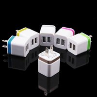 Wholesale Mp4 Metal - Home travel dual port Wall Charger dual usb port Power Adapter metal Mushroom US Plug Charging general For smartphone plus mp4