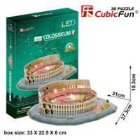 Wholesale Cubic Fun 3d - Wholesale-Wholesale authentic Le cubic Cubic Fun 3D stereo jigsaw puzzle DIY model LED Italy Colosseum