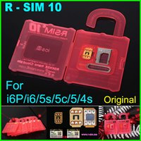 Wholesale wholesale cdma mobiles - Original R-SIM 10 rsim 10 R SIM 10 RSIM10 nano cloud unlock card for iphone 6 plus 6 5s 5 4s IOS8.X AT&T T-mobile Sprint WCDMA GSM CDMA