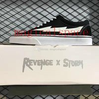 Wholesale Forest Camps - 2017 Revenge X Storm Old Skool Skateboarding Shoes Authentice Women And Mens FOREST GREEN Red Black Sneakers US4-US10.5