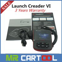 Wholesale Scanner Creader Vi - Genuine Original Launch Creader VI Creader 6 OBD2 Code Scanner Update Online cheaper creader vii Support Multi-Language Free shipping