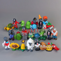 Wholesale Plants Zombies Figures Pvc - Free Shipping 24pcs lot PVZ Plants vs Zombies Figures 3-8cm Plants and Zombies PVC Action Figures Collection Toys Boy Gifts