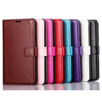 Wholesale Iphone 4s Pouches - Wallet PU Leather Case Cover Pouch with Card Slot Photo Frame Caese iPhone 4S 5S 6 6S PLUS S5 S6 EDGE NOTE 5
