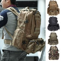 Wholesale Backpacks Army - Multifunction Military Rucksack Outdoor Tactical Backpack Travel Camping Hiking Sports Bag Black Army green Earth Camouflage