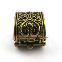 Wholesale Antique Bronze Scarf Jewelry - 12 Pieces lot Antique Bronze Zinc Alloy Spring Lock Automatically Open Pendant Scarf Jewelry Slides Bails AC0321B