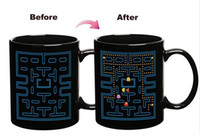 Wholesale Espresso Mugs - Wholesale-Pacman Game Ceramic Mug Color Changing Cup Heat Sensitive Espresso Tea Milk Mug creative cup gift cup Free Shipping