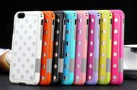 "Wholesale Polka Dot Hybrid Case - Hybrid Case for iphone 6 case Shockproof drop PC + TPU Korea Fashion Polka Dot case Cover for apple iphone 6 4.7"" 6 Plus 5.5"""