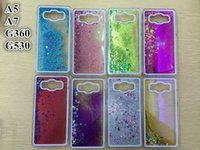 Wholesale Star Galaxy S3 - Floating Glitter Star Quicksand Liquid Dynamic Case For Samsung Galaxy S3 S6 Edge Plus Note 5 Grand Prime Core G530 G360 A5 A7 MOTO G2