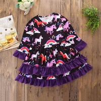 Wholesale Ready Ship Party Dresses - Animal Cute Little Girls Clothing Ruffle Sweet Baby Girls Dress Fashion Girls Party Dress New Children Clothing Ready To Ship