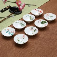 Wholesale Antique Chinese Cup - Wholesale-Chinese Style Antique Handpainted Ceramic Cup Small Bowl Relish plate Porcelain Teacup