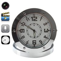 Wholesale Dvr Clock - Home Security Alarm Clock Camera Round Wall Clock Hidden Pinhole Camera Spy Hidden Camera Clock Mini DVR Clock DVR520