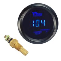 "Wholesale Led Temp Meter - Water Temp Temperature Gauge Blue LED 2"" 52mm Car Motor Water Temperature Sensor Car Styling Instruments Water Temp Meter"