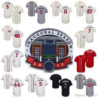 Wholesale Baseball Atlanta - 2017 Commemorative Patch Atlanta 7 Dansby Swanson #40 Bartolo Colon 5 Freddie Freeman Matt Kemp 44 Hank Aaron 11 Ender Inciarte Jersey