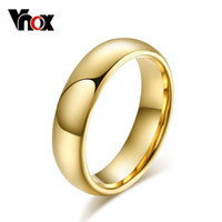 Wholesale Gold Tungsten Band - Wholesale-Classic tungsten carbide ring 18k gold wedding rings for men women high quality