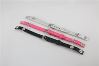 Wholesale Leather Wrap Around Bracelet - 2018 Newest 22cm Short Leather Bands Around once Wrap Leather Bracelet for Origami Owl Locket Bracelets 10pcs lot