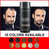 Wholesale colors Spray Toppik Brand Instant Natural Keratin Building Fibers Hair g Powders Black or Dark Brown