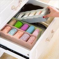 Wholesale organizer for socks resale online - High Quality Fashion Format Storage Box Can Be Freely Combined Store Underwear Socks Cosmetics For Cabinets Drawers