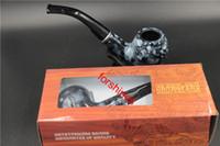 ingrosso le sigarette cinesi liberano il trasporto-100 pz / lotto spedizione gratuita USA marmorizzata tubo di fumo marmorizzato tabacco sigaretta fumatore personalizzato in resina tubi di fumo negozio cinese a buon mercato