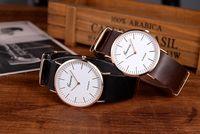 genf armbanduhren neue ankunft großhandel-2015 neue Ankunft Uhr Frauen Genf Uhr Mode Armbanduhr PU Lederband Quarzuhr Platin Fall Relogios